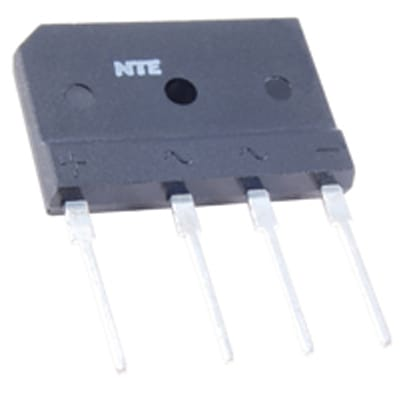 SIP Package NTE Electronics NTE5392 Single Phase Full Wave Silicon Bridge Rectifier 600V Maximum Recurrent Peak Reverse Voltage Inc. 35 Amps
