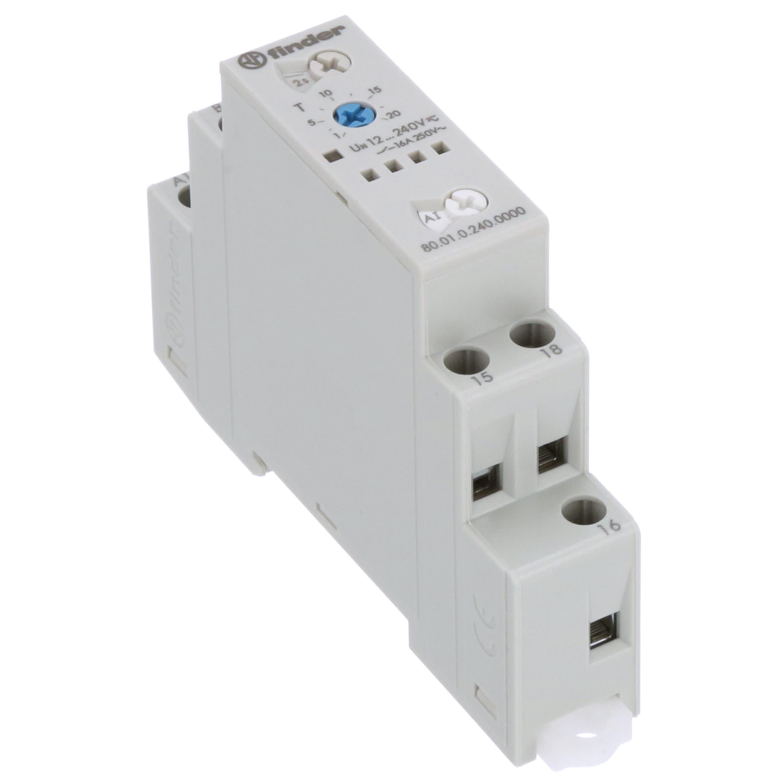 Finder 80.01 tiempo relés 12-240v AC DC//16a//1 cambiador industria 80.01.0.240