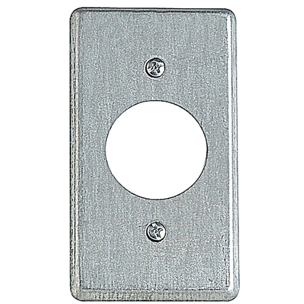 Thomas /& Betts 58-C-1 Single Gang Blank Utility Box Cover,No 58-C-1