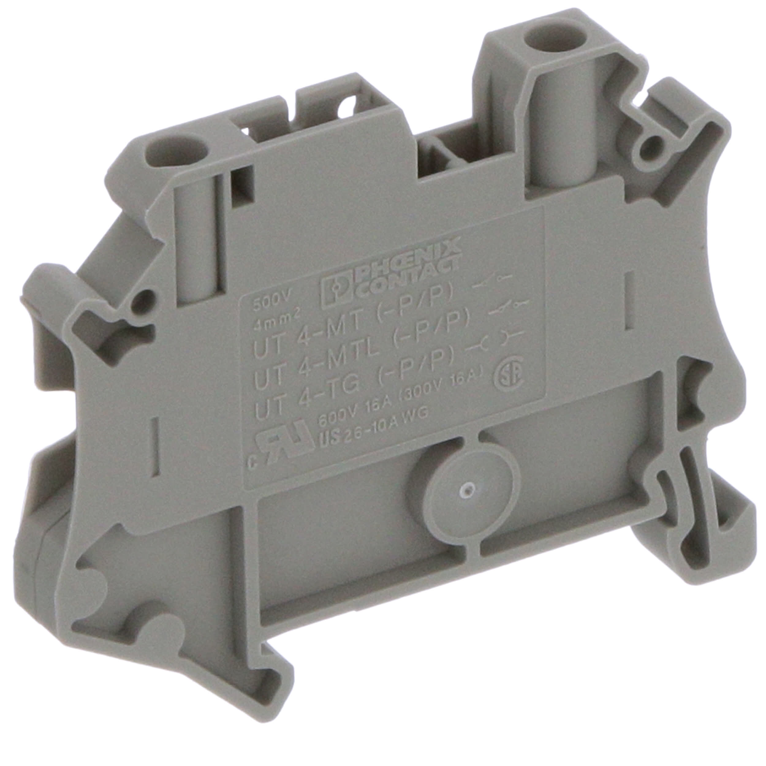 Tornillo 1.5 mm² 17.5 a Bloque terminal de montaje en carril DIN 26 AWG 2 formas 16 AWG