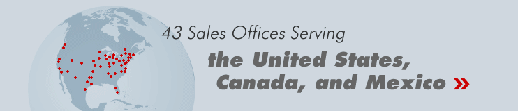 43 Sales Offices Serving the Untted States, Canada, and Mexico