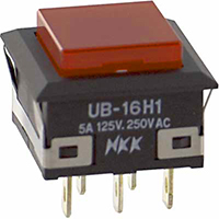 70192184 NKK Switches red lighted pushbutton