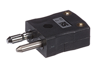 Standard In-Line Plug Connector For Type J Thermocouple Black 220C Max Temp 70644406